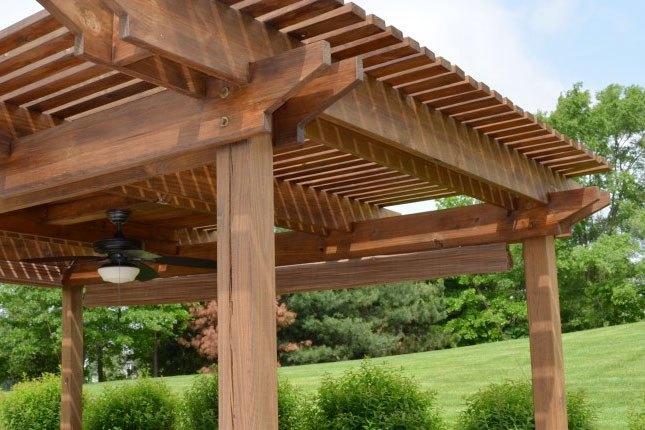 P rgolas de madera acero aluminio vidrio y m s for Bases para pergolas