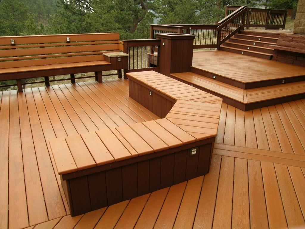 Deck compuesto ecol gico piso de madera para exterior for Deck para exteriores