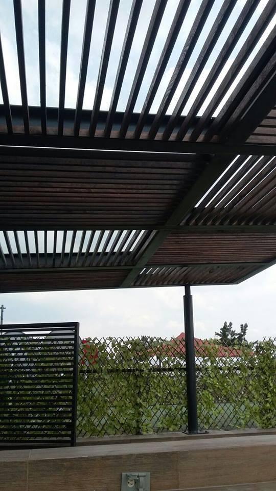 P 233 Rgolas De Madera Acero Aluminio Vidrio Y M 225 S