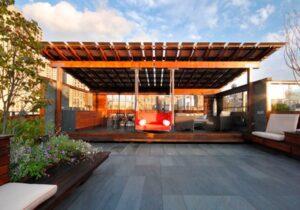 Pérgola en Roof Garden