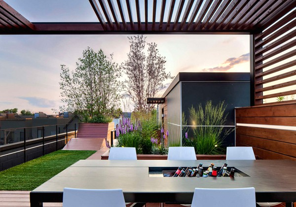 Pérgola Híbrida en Roof Garden