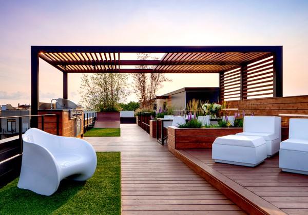 6 Increíbles Pérgolas Para Roof Garden