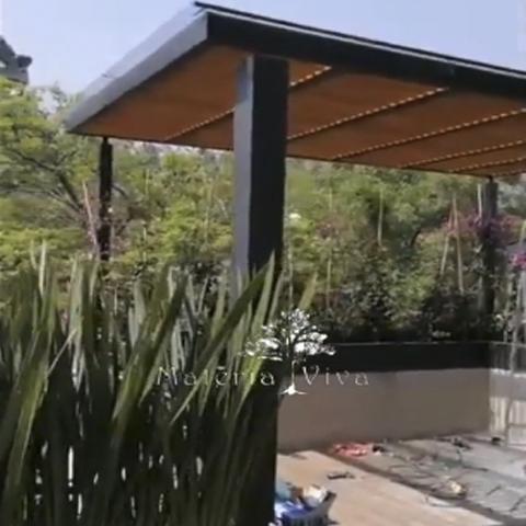 Pérgola Híbrida Y Piso Deck