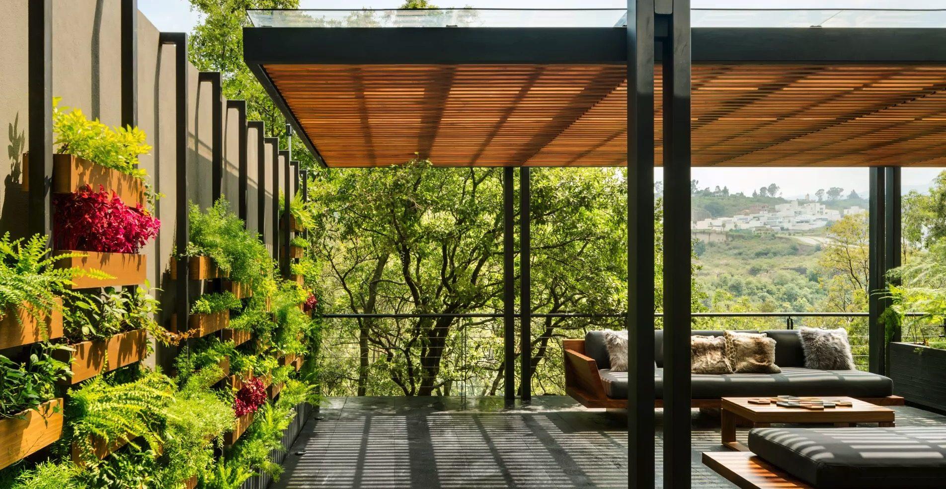 Pérgolas De Madera Y Acero Deck Terrazas Roof Garden